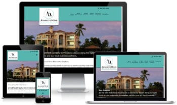 Custom Website Design for Advanced Home Renovation Solutions rendered on various devices