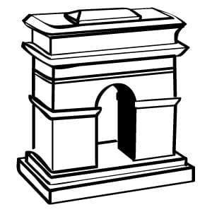 Arc de Triomphe Customer Service Icon Vector Illustration