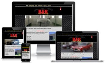Fast Loading Website Design Example | Sarasota Body Shop