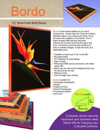 ColorPlak® Bordo - Your Art or Photography on a Thick MDF Board