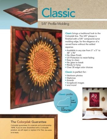 ColorPlak® Classic - Your Art or Photography on MDF with a finished edge