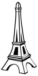 Eiffel Tower Customer Service Icon Vector Illustration