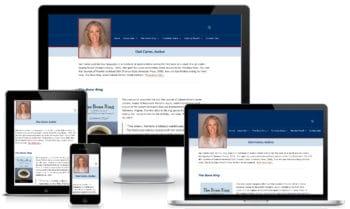 Custom Web Design for Gari Carter showing Responsive Layouts for Lightweight Website
