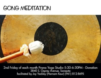 Gong Event Postcard Design