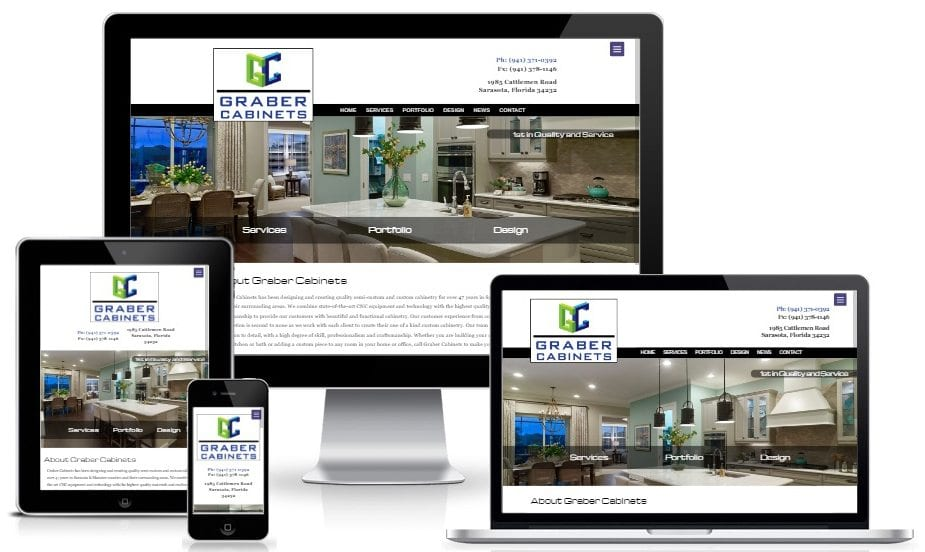 Custom Web Design for Graber Cabinets in Sarasota, Florida