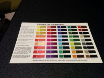 Inline Foil Swatches