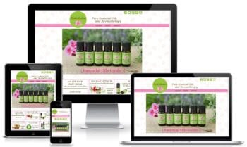 Custom Web Design for Kokokahn Essential Oils