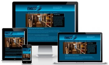 Responsive Web Design Montage for Neff Gulf Coast, premium custom website for downtown Sarasota Business