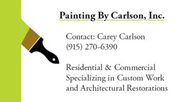 Painting By Carlson Business Card Design