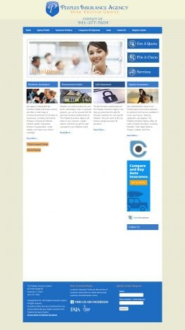 Peeples Insurance Website Before Redesign