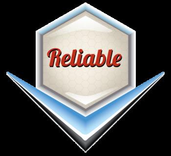 Reliable Emblem - Retro Vector Illustration