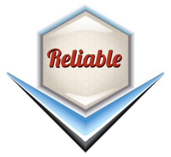 Reliable Emblem - Retro Vector Illustration
