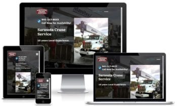 Custom Website Design for Sarasota Crane Service