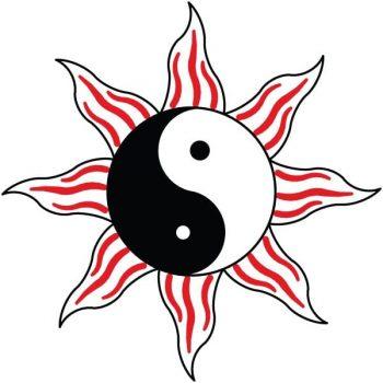 Sun Logo featuring Yin-Yang