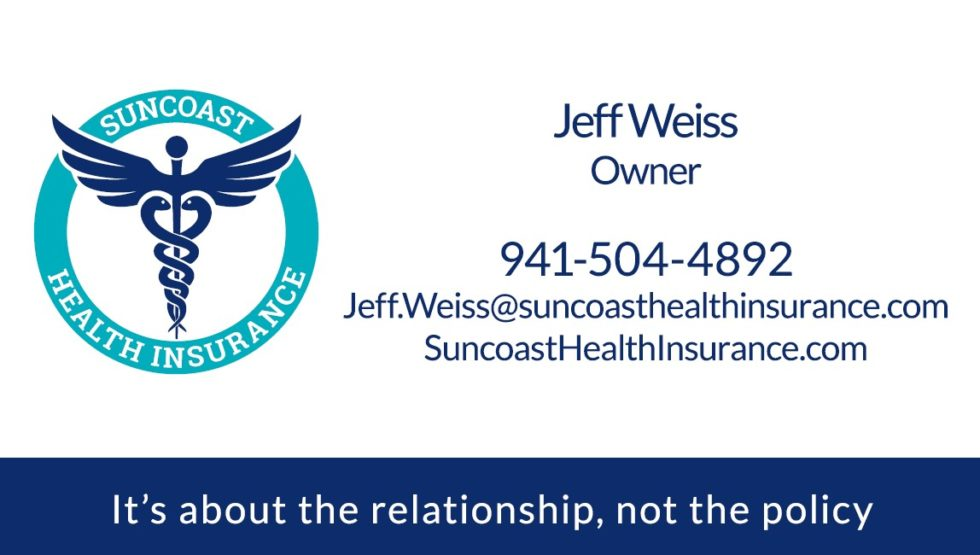 Suncoast Health Insurance Business Card