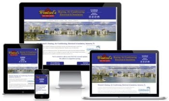 Custom Web Design for Wentzel's Heating and Air Conditioning in Sarasota, Florida