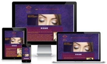 Responsive WordPress Website designed for Zen Blossom Sarasota shown on various screen sizes