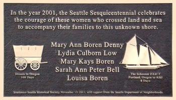 Non-profit bronze plaque design featuring Sailing Vessel Exact